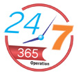 24/7 Operation