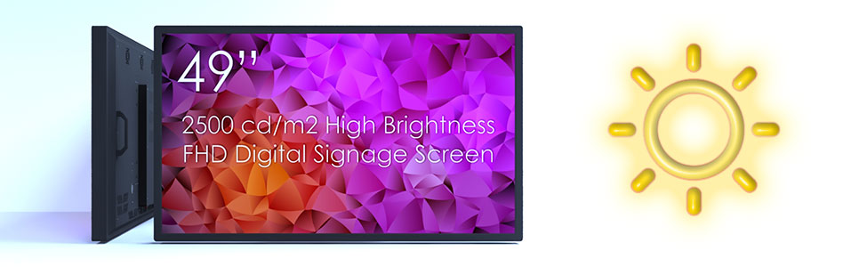 High Brightness Digital Signage Screens