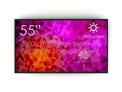 "SWEDX 55"" High Brightness screen / 2500 cd/m2 / 4K"