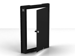 "Swedx Kiosk 42"" Back Cover with Lockable Door. Black"
