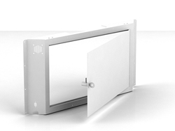 "Swedx Kiosk 58"" Back Cover with Lockable Door. White"