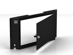 "Swedx Kiosk 58"" Back Cover with Lockable Door. Black"