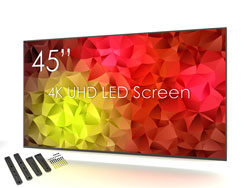 SWEDX SuperSlim 45 inch 4K Screen with Wall Mount. Pixel Policy 2