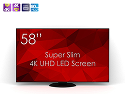 SWEDX SuperSlim 58 UHD-4K LED Screen. Pixel Policy 2